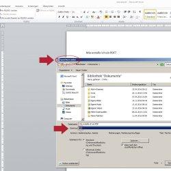 Einfach als Dateityp 'PDF' auswählen ...