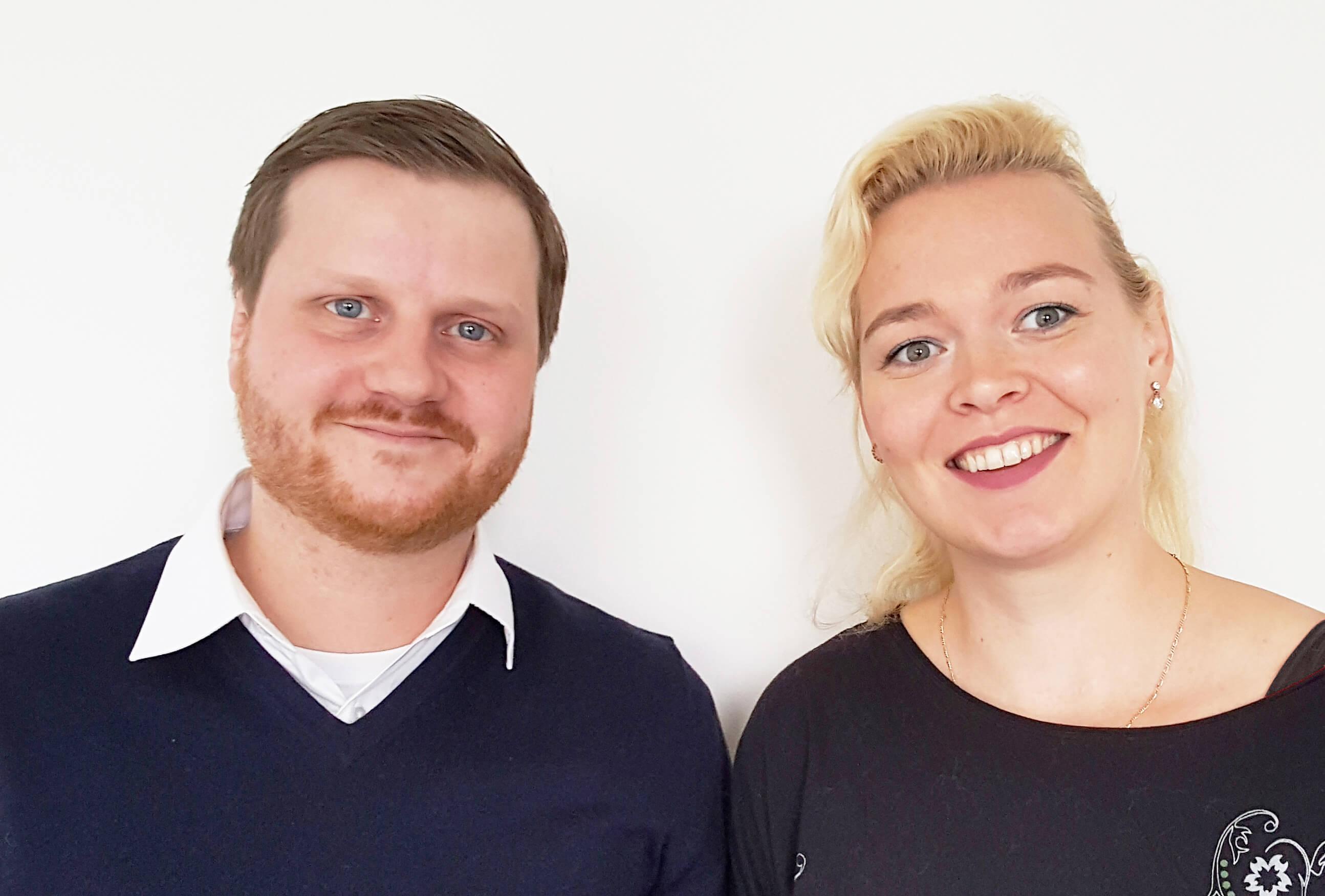 Inga und ihr Ansprechpartner Marcel