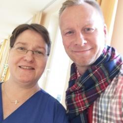Pflegehelferin Karin