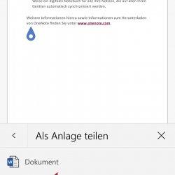 Wenn Sie Ihr Dokument als Anlage teilen, können Sie das PDF-Format auswählen ...